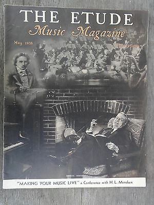 The Etude Music Magazine May, 1936 Excellent Condition