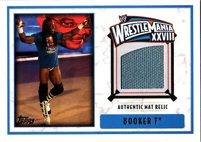 WWE Booker T 2012 Topps WrestleMania 28 Authentic Event Used Mat Relic Card