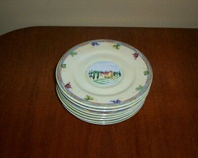 PTS Intl Interiors Tuscan Country Saucers - 7 available (no cups)