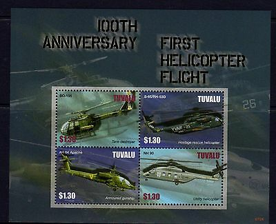 Tuvalu 2010 Helicopters Sheetlet 4 MNH
