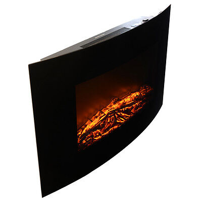 """Wall Mount Fireplace Heater 35""""x22"""" 1500W Adjustable Electric XL Large W/Remote"""