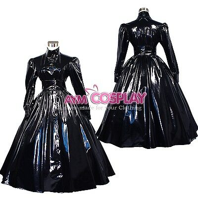 special offer- vinyl PVC long dress Gothic Punk costume Tailor-made [G268]