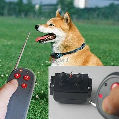 4 in 1 Pet Training Dog Shock+Vibrate Electric No Bark Collar Remote Control