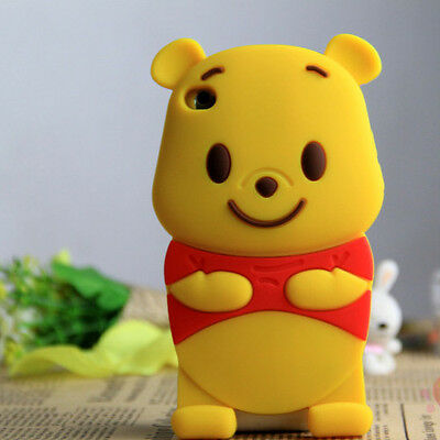 3D Cute Cartoon Winnie the Pooh Silicone Cover Case For iPod Touch 4 4th Gen