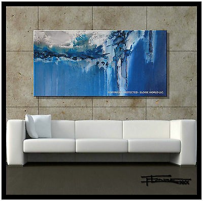 MODERN ABSTRACT Contemporary Canvas  Painting  ..ELOISExxx