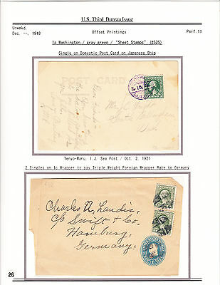 #525 1c Offset on Album Leaf (2), Solo on PC with Japan Ship Cancel, etc.