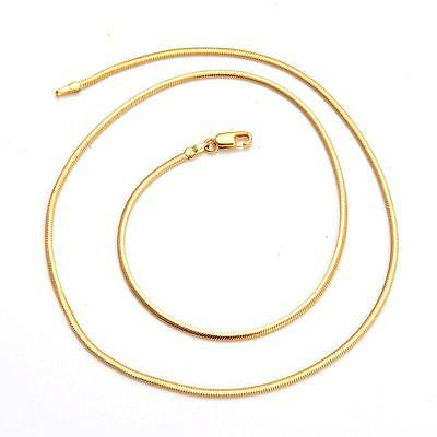 20inches 7g 18K Solid Yellow Gold Filled Necklace Chain C85