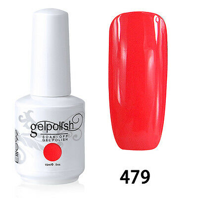 Hot Soak-Off Gel Polish Nail Art New Bling Colors Manicure Color Salmon 479 15ml