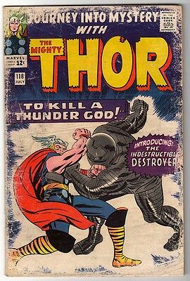 Marvel Comics G THOR #118 Journey into mystery  KIRBY DESTROYER