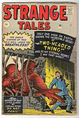 Marvel Strange Tales 95 Kirby Ditko Fn-  5.5 Thing With 2 Heads