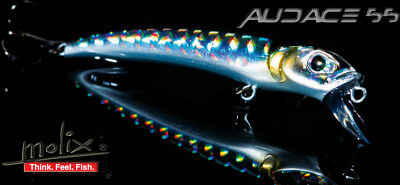 New  Esca Artificiale Molix Audace 55 Sinking Pesca Spinning Rock Trota  PP