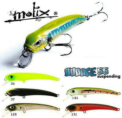 New Esca Artificiale Molix Audace 55 Suspending Pesca Spinning Rock Trota   PP