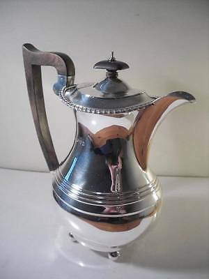 A Large Solid Silver Coffee Pot / Teapot / Water Jug : Chester 1935
