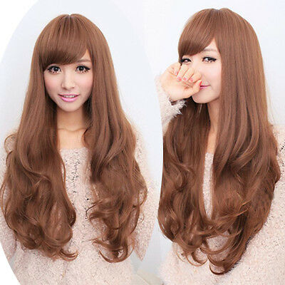 Hot Sale Fashion Full Wigs Long curly wavy hair womens weave cosplay Party wig
