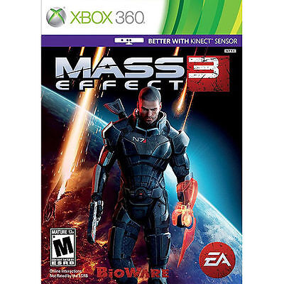 MASS EFFECT 3 -XBox 360 Game EXCELLENT Condition - Better with Kinect - Shepard