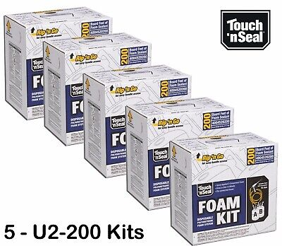 Touch 'n Seal U2-200 Standard FR Spray Foam Insulation Kit - QTY of 5 Kits-SAVE