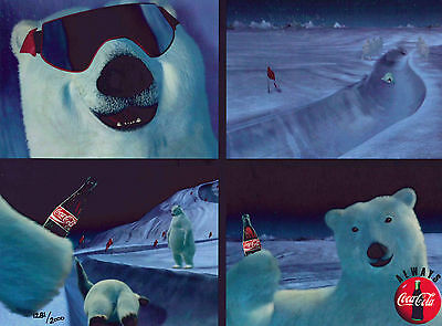 Coke Coca-Cola Polar Bear Cel Ad Advertising Art Late-Night Luge New