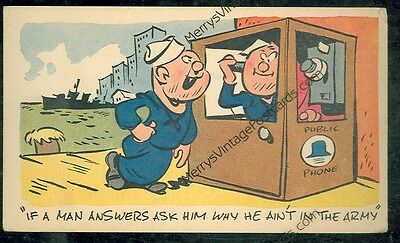 If A Man Answers Ask Him Why He Ain't in The Army (1943 militarycomics #47)*2