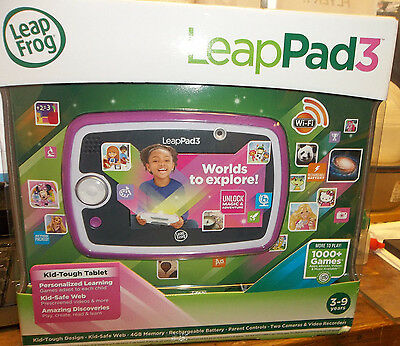 NEW!! LEAP FROG LEAP PAD 3 KIDS LEARNING TABLET ITEM #31510 PINK/PURPLE