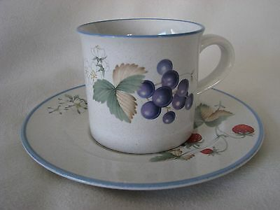 VINTAGE 90's SAVOIR VIVRE LUSCIOUS SET OF 4 CUPS & 4 SAUCERS~JJO17~MADE IN JAPAN