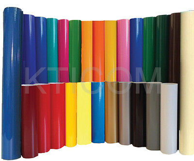 "5 rolls 12"" Gloss Colors Adhesive Backed Vinyl Sign & Craft Cutter silhouette"