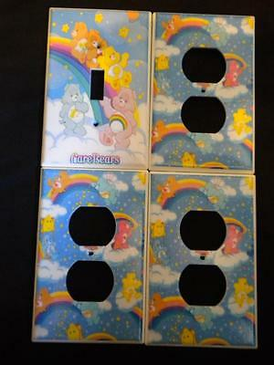 CARE BEARS LIGHT SWITCH & Outlet COVERS *VERY CUTE* Nursery Decor