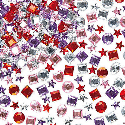 Adhesive Acrylic Jewels for Kid's Collage, Crafts & Card Making (Pack of 200)