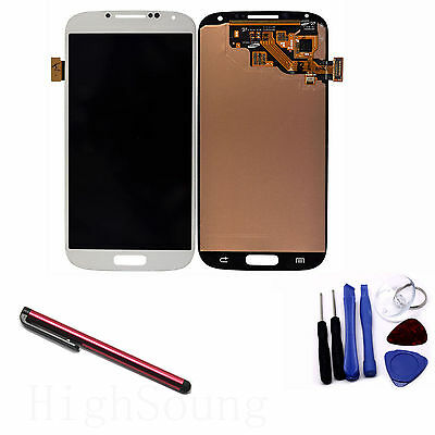 LCD Digitizer Glass Touch Screen Assembly for Galaxy S4 i9500 + Gift Pen Red