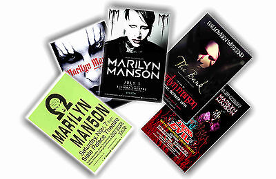 Marilyn Manson - Set Of 5 A4 Posters # 1