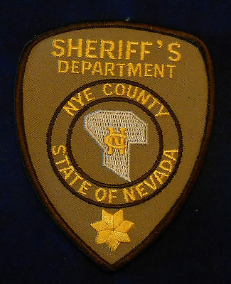 Nye County, Nevada Sheriff's Dept. Police Shoulder Patch (invp1038)