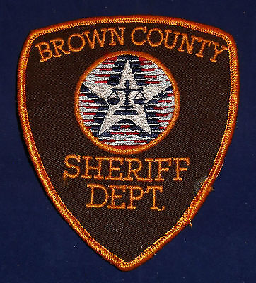 Brown County, Wisconson Sheriff Dept. Police Shoulder Patch (invp588)