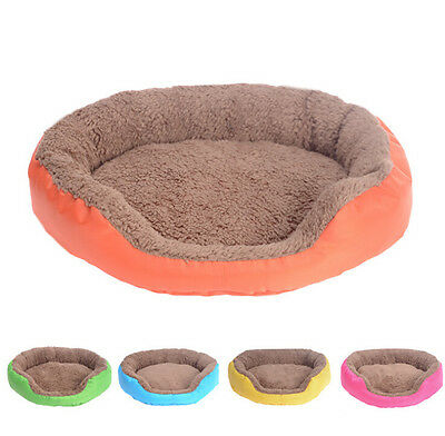 46*40*9cm Soft Warm Fleece Pet Dog Puppy Cat Bed House Nest with Plush Mat Pad