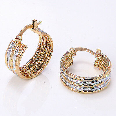 Fashion 14K Solid Yellow Gold Filled Women's Wedding Jewelry Earrings Gift E502