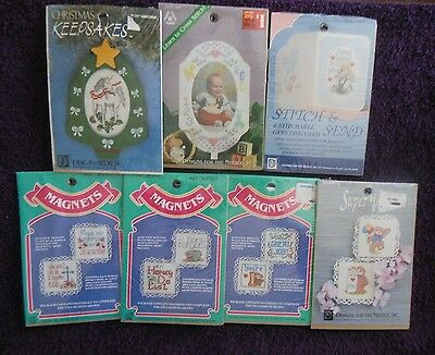 CHOICE of SMALL DESIGNS FOR NEEDLE Cross Stitch Kits Ornament/Frame/Card/Magnets