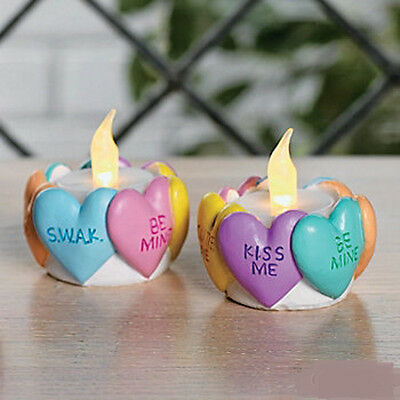 *Deluxe Set of 3 Valentine Heart Tealight Candle Holders NEW IN BOX 3 PC