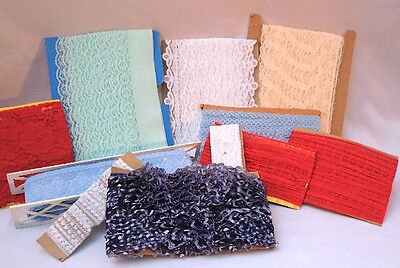 Huge Lot of Laces - 9 Different Kinds - Vintage and Old Stock #6592
