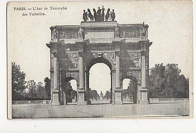 Paris Arc de Triomphe Vintage Postcard France 034a