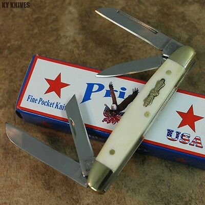 Pride USA 4 Blade 3 1/2 Courthouse Congress Pocket Knife -BONE KC-6-BN-WH zix