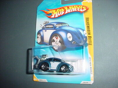 HOT WHEELS 2010 NEW MODELS VOLKSWAGEN BEETLE BLUE 4 OF 44 FREE USA SHIPPING