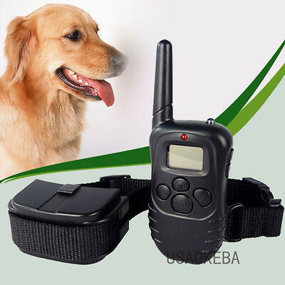 Rechargeable Waterproof LCD 100 Level Shock Vibration Remote Dog Training Collar
