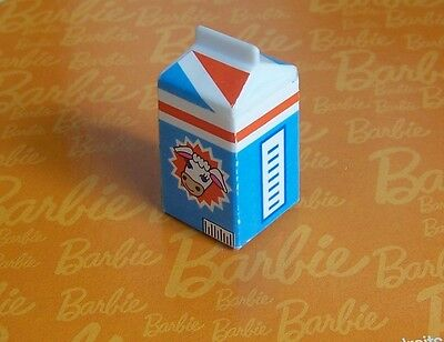 Barbie Totally Real House MILK CARTON Food Refrigerator Kitchen Accessories NICE
