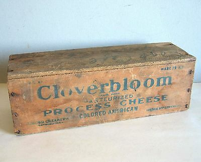 Old Wood CLOVERBLOOM American Process Cheese Box 5 lbs Dairy Primitive FREE SH