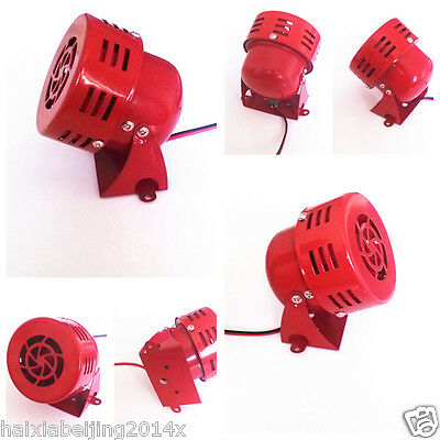 12V Driven Air Raid Siren Horn Alarm Loud Sound Fire Security Rescue For Harley