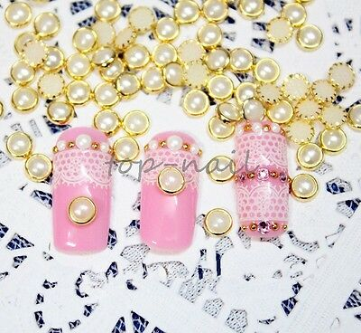 Hot Sales 20pcs Nail Art Mixed Color Pearl Style Decoration Jewelry JH020