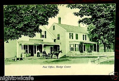 Post Office W.W. Emory Store Rindge New Hampshire NH Postcard c.1905 horse buggy