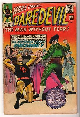 MARVEL Comics DAREDEVIL CENT COPY VOL 1 Issue 5 VG- 3.5 1964