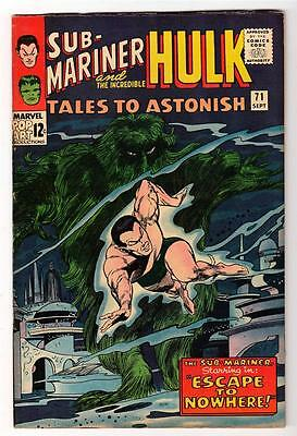 Marvel TALES TO ASTONISH 71  HULK SUB MARINER  FN+