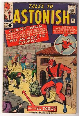 Marvel TALES TO ASTONISH 54  ANT-MAN Pym GIANT MAN AVENGERS  VG 4.0