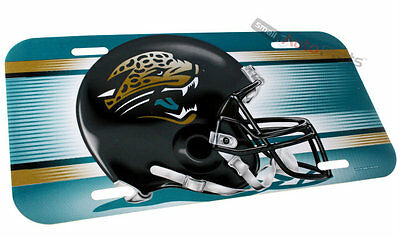 New! JACKSONVILLE JAGUARS FOOTBALL NFL LICENSE PLATE PLASTIC CAR TRUCK FRONT TAG
