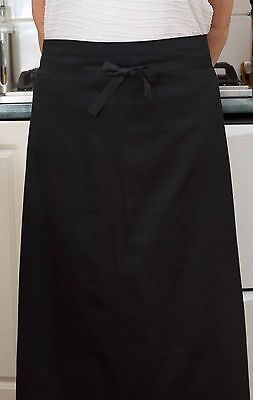Shin Length Waist Apron+POCKET+Long Ties -Chef/Cook/Bistro/Waiter/Cafe-QLD Made